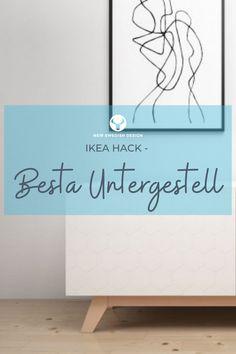 Mit dem Designer Untergestell aus Buche für das Ikea Besta Regal muss dieses nicht mehr wie üblich auf dem Boden stehen, sondern wird zum trendigen Lowboard oder Sideboard.