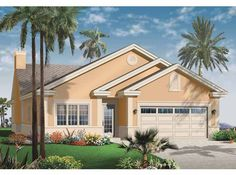 Home Plan HOMEPW08750 - 2122 Square Foot, 3 Bedroom 2 Bathroom + Mediterranean Modern Homes Home with 2 Garage Bays | Homeplans.com