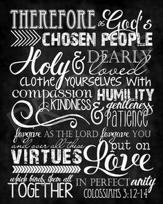 This chalkboard typography piece brings texture and dimension to the scripture art. Our scripture art is printed by a professional photo lab and is finished with a linen texture and protective coating. 11x14s and 16x20s (and larger) are mounted on matboard and ready to frame or display on an easel. Gallery Wraps are ready to hang. 8x10 photo print $15 11x14 mounted print $28 16x20 mounted print $45 20x24 mounted print $65 20x30 mounted print $85 24x30 mounted print $95 30x40 mounted print...