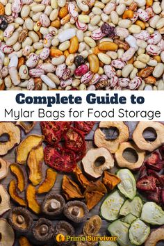 Complete Guide to Mylar Bags for Food Storage. When it comes to storing your emergency food stockpile, there are a lot of different methods you can use. However, the most popular method is sealing food in a Mylar bag. If you are new to Mylar bags, here Emergency Food Storage, Emergency Food Supply, Dry Food Storage, Long Term Food Storage, Emergency Preparedness, Storage Ideas, 400 Calorie Meals, Dried Vegetables, Gourmet Breakfast