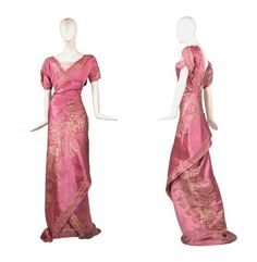 Evening dress ca. 1910  From Doyle New York