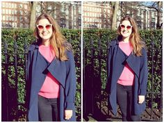 London sun- M&S Limited Collection coat, Boutique by Jaegar knit