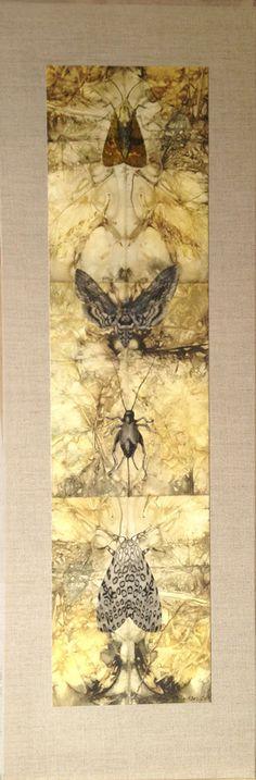 "Julie Shackson - ""Symbiosis"", mixed media/collage"