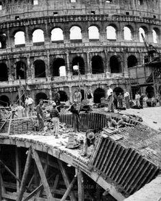 Roma Sparita - Piazza del Colosseo prima linea metropolitana 1947