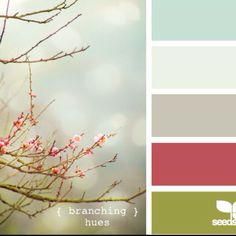 Color combinations: I like how none of the colors are very bright, but there's still plenty of color.