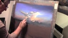 How to Pastel Demonstration Evening Sky by Les Darlow, via YouTube.