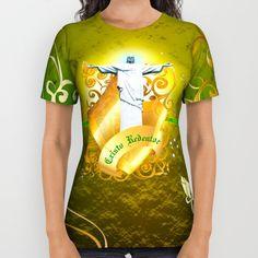 The Cristo Redentor All Over Print Shirt Buy in: Society6.com/rongrafico  #shop #shopDesign #Corcovado #Crito #CristoRedentor #Brasil #Brazil #Latinamerica #Art #DigitalArt #Design #Diseño #GraphicDesign #Diseño Grafico #Society6 #Buy #Buying #shirt #female
