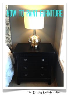 Excellent tutorial on painting furniture WITHOUT sanding!