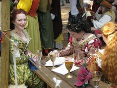 ladies at Renaissance Faire by blue_jay1, via Flickr