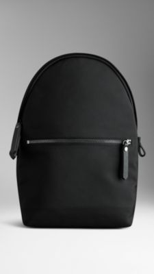 Single Strap Leather Trim Backpack