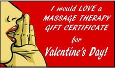 Valentines massage Gift Certificates 10% off until February 12th CALL:  334-559-3969
