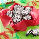 Drizzled Peppermint Cookies