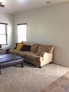 House Tour: A Couch Upgrade - Everyday Reading New Furniture, Bed Frame, House Tours, Sofas, Colours, Couch, Reading, Room, Home Decor