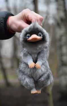 Cute Fantasy Creatures, Magical Creatures, Felt Animals, Cute Baby Animals, 3d Fantasy, Fantastic Beasts And Where, Harry Potter Fan Art, Fanarts Anime, Cute Art
