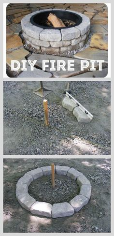 I had no idea it was this easy to make your own fire pit!