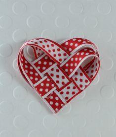 Woven Ribbon Heart Embellishment