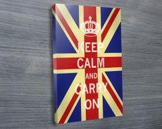 Keep Calm Union Jack - Canvas Prints Australia Canvas Collage, Canvas Art Prints, Canvas Wall Art, Framed Prints, Poster Prints, Banksy Prints, Photo Canvas, Stretched Canvas Prints, Wall Art Designs