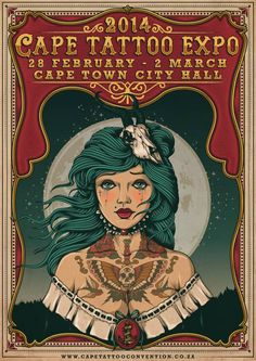 Annual Cape Town Tattoo Expo 28 February - 2 March 2014 See more on: http://worldtattooevents.com/cape-town-tattoo-expo/ — in Cape Town, South Africa.