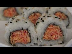 How To Make A Spicy Crab Sushi Roll - Mitch and I are going to try making sushi that I may actually eat (minus the nori, eww)