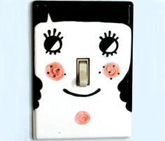 Turn Me On Light Switch Cover by Tuesday Bassen Illustration