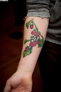 traditional strawberry on vine tattoo - Google Search