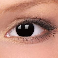 Blackout Crazy Contact Lenses (Pair) - possible demon from Supernatural lenses