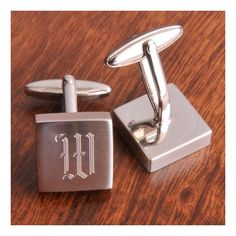 Personalized Harrison Silver Engraved Cufflinks