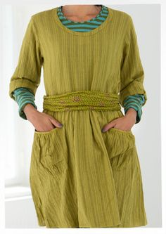Eco-cotton dress – Weaves – GUDRUN SJÖDÉN – Webshop, mail order and boutiques | Colourful clothes and home textiles in natural materials.