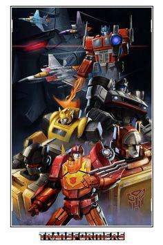 Transformers, Avengers, Mega Man, and More by Artist Jin Yung Kim — GeekTyrant Transformers Generation 1, Transformers Optimus, Optimus Prime, Transformers Bumblebee, Gi Joe, Morning Cartoon, Batman, Marvel, Mega Man