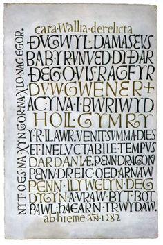 Creative Lettering, Hand Lettering, David Jones Artist, Latin Text, Gospel Of Luke, Wax Crayons, Letter Form, National Portrait Gallery, Modern Calligraphy