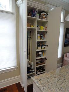 Broom storage!!! Townhouse Pantry/Broom Closet