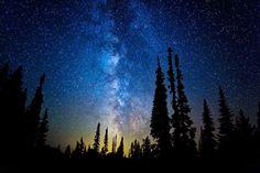 paisajes de noche con estrellas - Buscar con Google