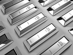 Silberbarren haben den Status Königsmetall