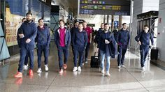 #Barcelona players in high spirits as they arrive London ahead of Arsenal Champions League clash (photos) #vibes247