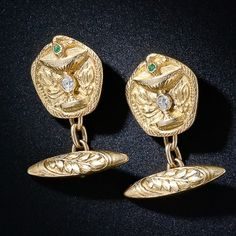 Art Nouveau Serpent and Chalice Cufflinks
