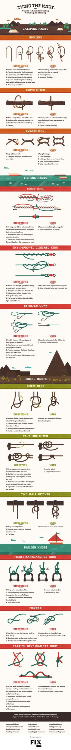 12 must-know knots for camping, fishing, backpacking and more!