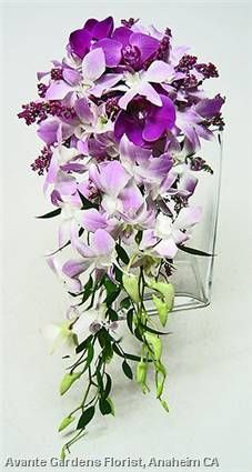 purple and lilac orchid wedding bouquet - Google Search