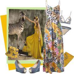 Bohemian Tropical Maxi Dress
