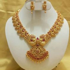 NEW Latest Light weight gold necklace designs gold necklace huge collections Indian Wedding Jewelry, Bridal Jewelry, South Indian Jewellery, Gold Jewellery Design, Gold Jewelry, Gold Bangles, Long Pearl Necklaces, Charm Necklaces, India Jewelry