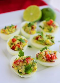 The Comfort of Cooking » Guacamole Deviled Eggs