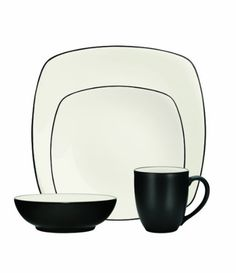 Noritake 4-Piece Colorwave Square Place Setting, Graphite - Listing price: $80.00 Now: $39.99 + Free Shipping