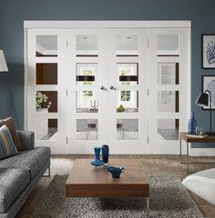Wooden Doors, External Doors, Internal Doors, Internal Room Divider Sets | Internal White Freefold Sliding/Folding Door System