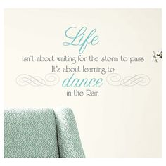 RoomMates Dance in the Rain Quote Peel & Stick Wall Decals