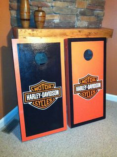 New Orange Black Motorcycle Boards With 8 Bags Bean Bag Toss