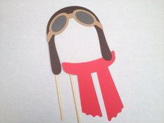 Red Baron Aviator Photo Booth Props  Pilot Photo by CleverMarten, $5.00