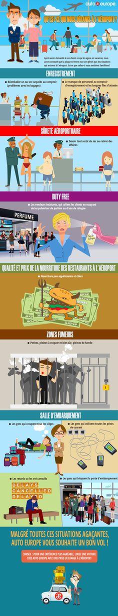 Infographie : ce qui nous agace à l'aéroport