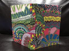 Doodle Art Book 9 - handmade book with doodle art cover - Hanamama2007