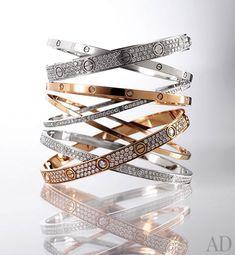 Cartier love bracelet;