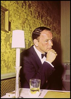 Frank Sinatra in deep thought ~