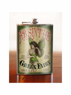 Absinthe Fairy - Flask - 8oz. - stainless steel